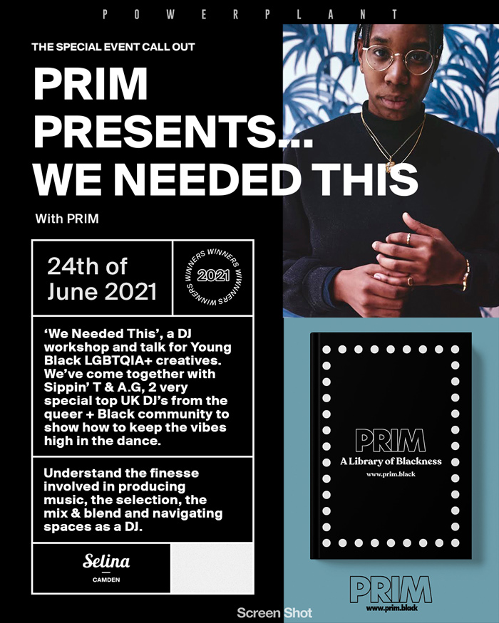 PRIM presents We Needed This, an event focused on celebrating the black queer community through music