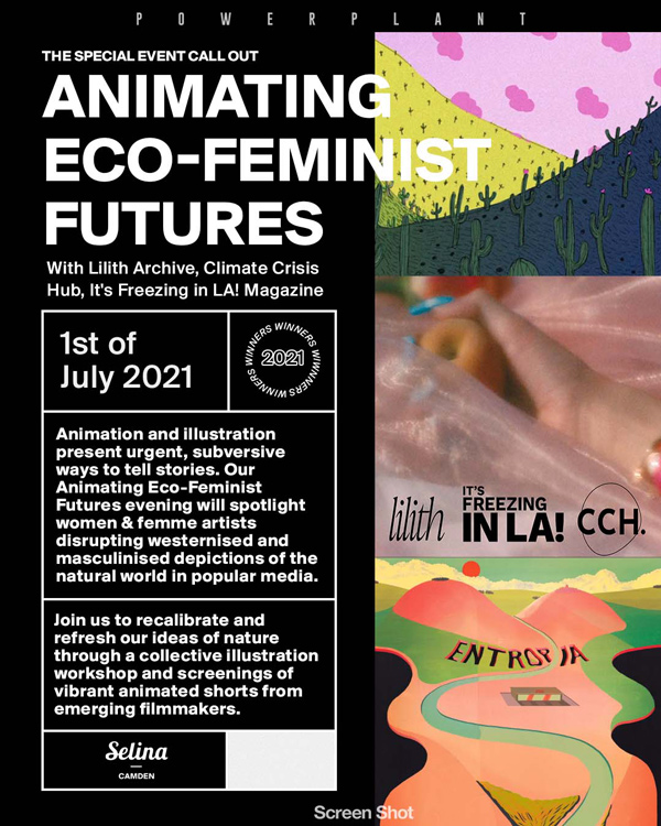 Animating Eco-Feminist Futures: an event to discover alternative depictions of the natural world