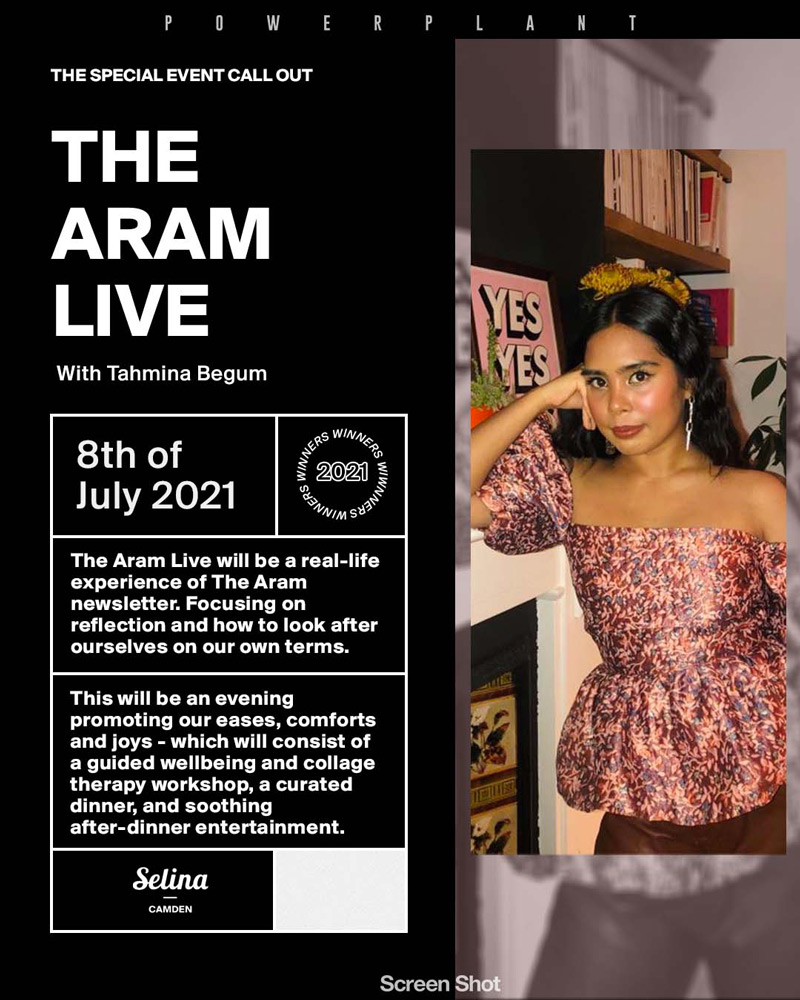The Aram Live: an evening of ease, comfort and joy hosted by Tahmina Begum